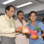Minister of Railways felicitates Indian Railways Women Cricketers of Indian Women Cricket Team