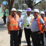 Managing Director, Lucknow Metro Rail Corporation inspects the Metro work from Munshipulia to K.D Singh Babu Stadium