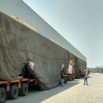 LMRC Receives 13th Set Of Metro Train At Transport Nagar Metro Depot