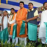 Union Minister Rajen Gohain and Tripura CM Biplab Kumar Deb jointly flag off the Agartala-Deoghar Express To Ease Journey Of Devotees